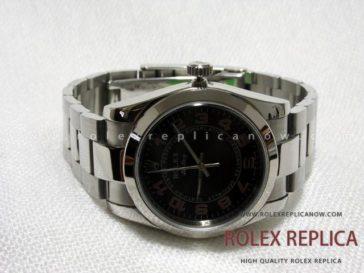 Rolex Air King Replica Black Dial