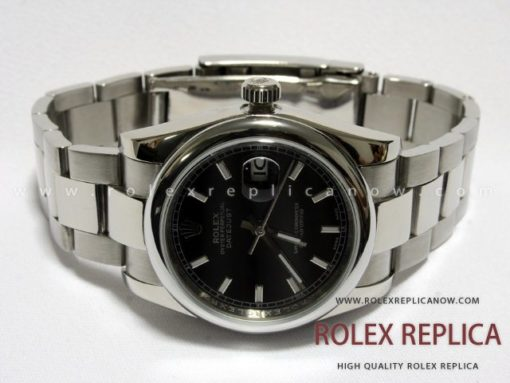 Rolex Date Just Replica Black Dial (1)