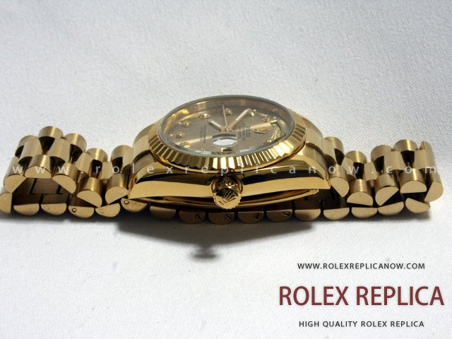 Rolex Day Date Replica Black Dial Gold