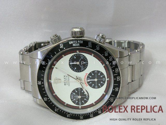 Rolex Daytona Paul Newman Replica White Dial A7750 Swiss Eta