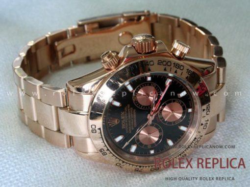 Rolex Daytona Replica Everose Black Dial (1)