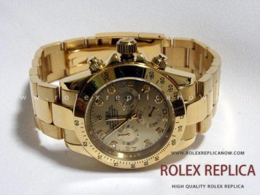 Rolex Daytona Replica Gold with Diamonds (1)