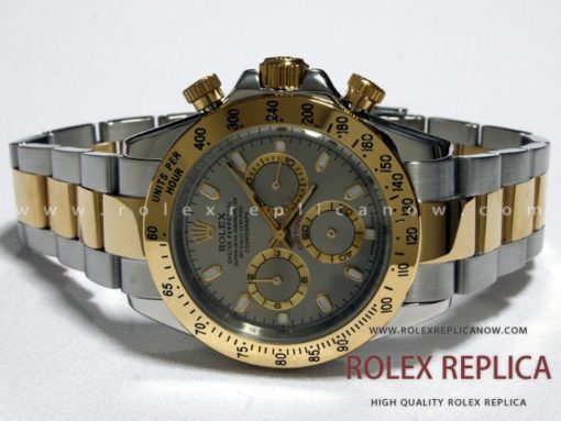 Rolex Daytona Replica Gray Dial Steel and Gold (1)