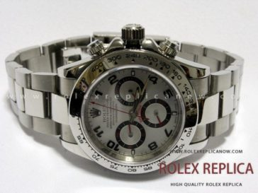 Rolex Daytona Replica White Dial Red Hands A7750 Swiss Eta (1)