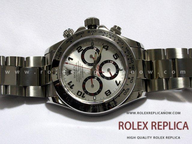 Rolex Daytona Replica White Dial Red Hands A7750 Swiss Eta