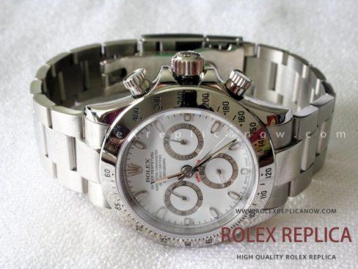 Rolex Daytona Replica White Dial Steel A7750 Swiss Eta (1)