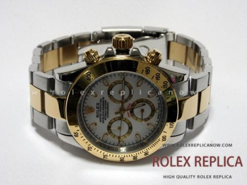 Rolex Daytona Replica White Dial Steel and Gold (1)