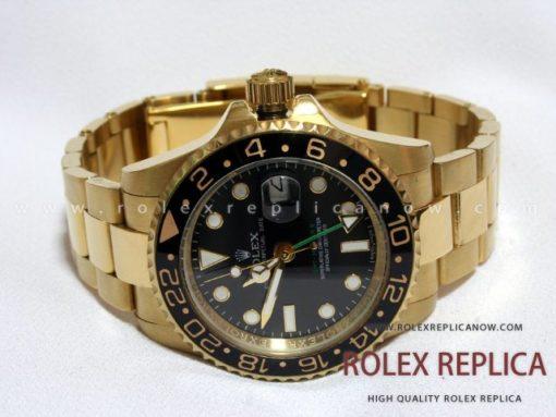 Rolex Gmt Master II Replica Black Dial Gold (1)