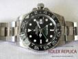 Rolex Gmt Master II Replica Black Dial Green Hand 2836-2 Swiss Eta (2)