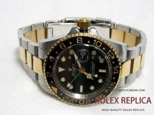Rolex Gmt Master II Replica Green Hand Steel and Gold (1)