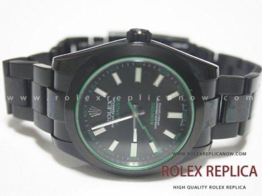 Rolex Milgauss Replica Bamford Pvd Black (1)