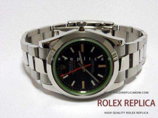 Rolex Milgauss Replica Black Dial Green Glass (1)