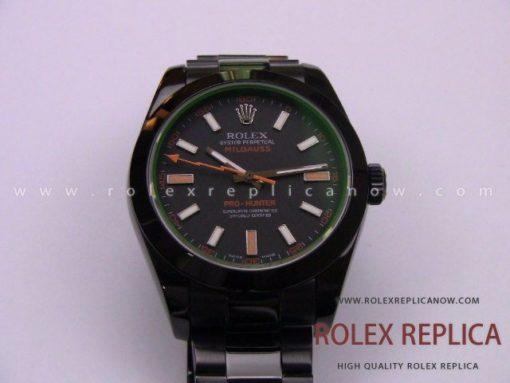 Rolex Milgauss Replica Pro Hunter Pvd Black 2836-2 Swiss Eta (3)