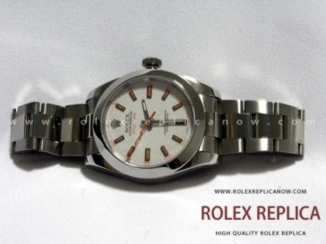 Rolex Milgauss Replica White Dial Orange Hands