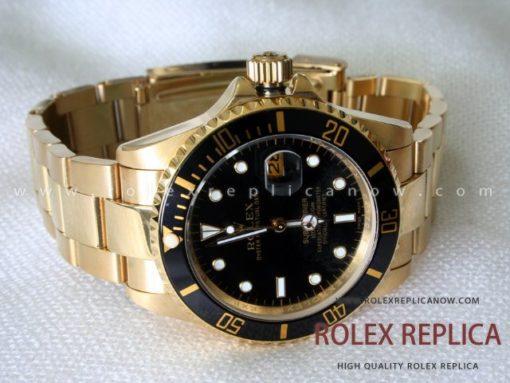 Rolex Submariner Date Replica Black Dial Gold (1)