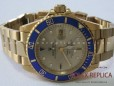 Rolex Submariner Date Replica Blue Bezel Gold (1)