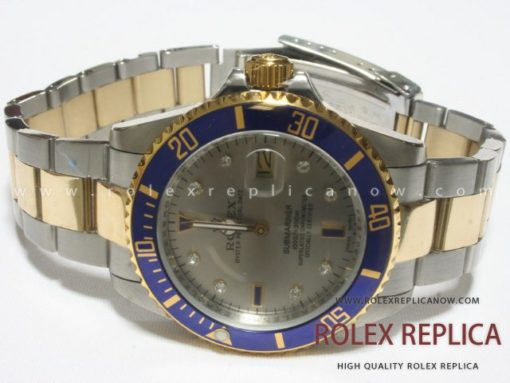 Rolex Submariner Date Replica Blue Bezel Steel and Gold (2)