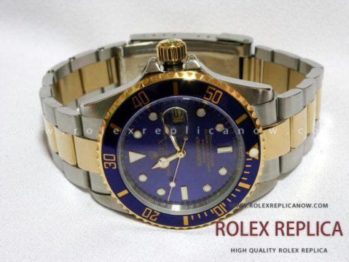 Rolex Submariner Date Replica Blue Dial Steel and Gold (1)