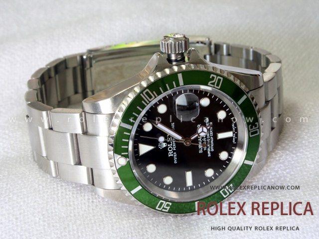 Rolex Submariner Date Replica Green Bezel