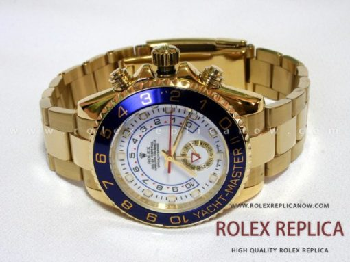 Rolex Yacht Master II Replica White Dial Gold (1)