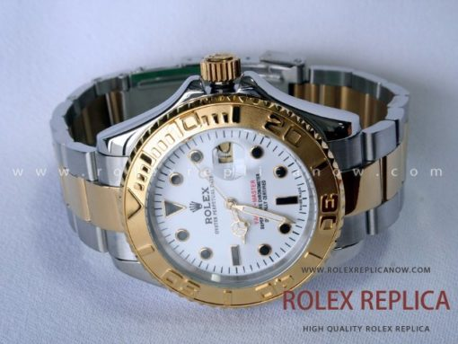 Rolex Yacht Master II Replica White Dial Steel and Gold (1)